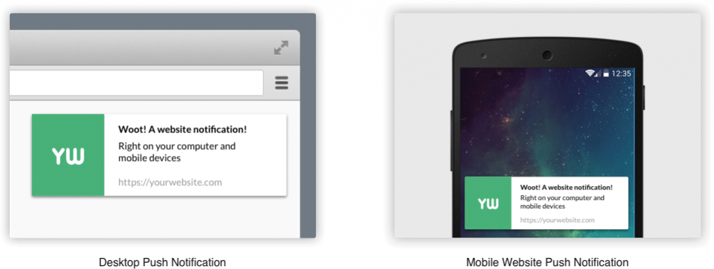 Notification push web sur mobile et desktop