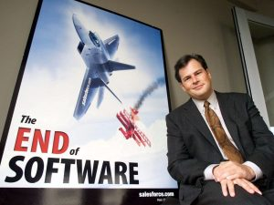"""The """"NO SOFTWARE"""" campaign, in the good old days, before Salesforce itself became a software vendor."""