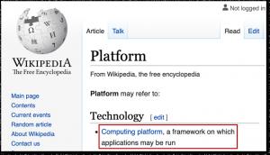Platform Network Effect